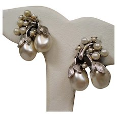Vintage Tortolani Faux Baroque Pearl Earrings