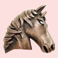 Vintage Trifari Wild Pony Horse Brooch