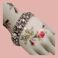 Vintage Weiss Clear Colorless Rhinestone Bracelet