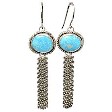 Kingman Turquoise Fringe Earrings