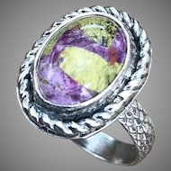 Atlantisite Sterling Silver Ring Size 7.5