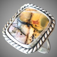 Cherry Creek Jasper Sterling Silver Ring Size 7