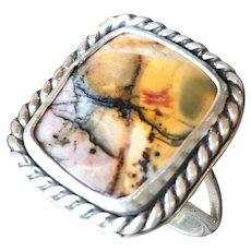 Cherry Creek Jasper Sterling Silver Ring Size 7