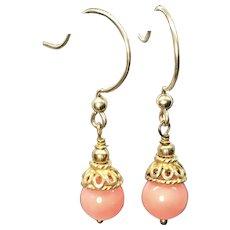 Salmon Coral 18k Vermeil Earrings