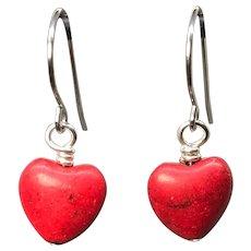 Petite Red Heart Earrings