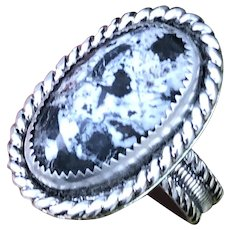 Buffalo Turquoise Sterling Silver Ring Size 11