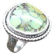 Heubi Turquoise Sterling Silver Ring Size 6.5