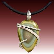 Imperial Jasper Sterling Silver Pendant,