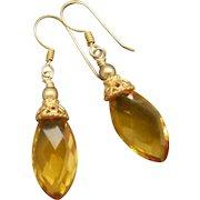 Citrine Quartz Gold Vermeil Earrings