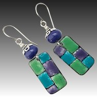 Colorful Enamel Earrings