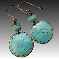Rustic Enamel Earrings