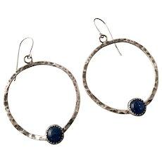 Blue Kyanite Sterling Silver Everyday Earrings