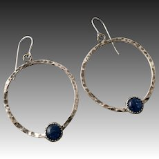 Blue Kyanite Sterling Silver Everyday Earrings