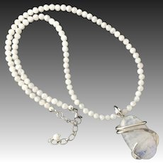 Moonstone Sterling Silver Necklace