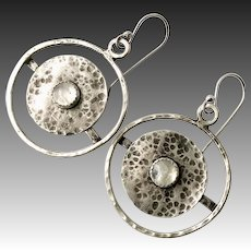 Sterling Silver Moonstone Earrings