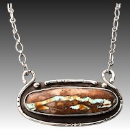 Boulder Turquoise Sterling Silver Necklace