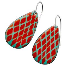 Colorful Abstract Enamel Earrings
