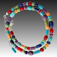 Southwestern Gemstone Beaded Multi Stone Necklace