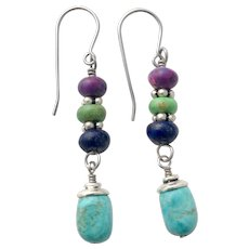 Turquoise And Lapis Earrings