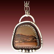 Deschutes Picture Jasper Sterling Silver Pendant Necklace