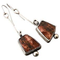 Sterling Silver Jasper Earrings