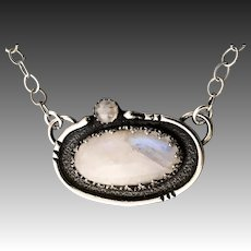 Moonstone Sterling Silver Pendant Necklace