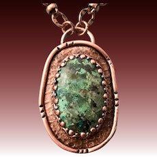 Chrysocolla Copper Pendant Necklace