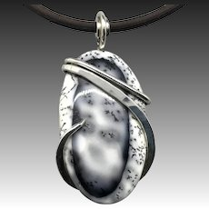 Dendrite Opal Agate Necklace