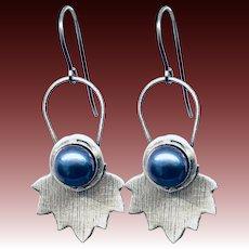 Freshwater Tahitian Pearl Sterling Silver Earrings