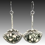 Alaskan Rhodonite Sterling Silver Earrings