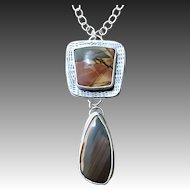 Cherry Creek Jasper Sterling Silver Pendant Necklace