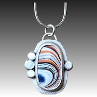Sterling Silver Boat Paint Necklace