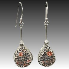 Leopard Skin Jasper Sterling Silver Earrings
