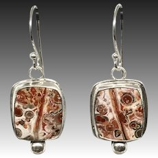 Leopard Jasper Sterling Silver Earrings
