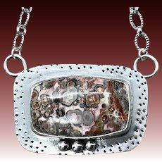 Leopard Jasper Sterling Silver Pendant