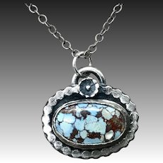 Lavender Turquoise Sterling Silver Necklace