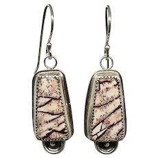 Sonoran Dendrite Rhyolite Sterling Silver Earrings