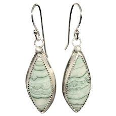 Saturn Chalcedony Sterling Silver Earrings