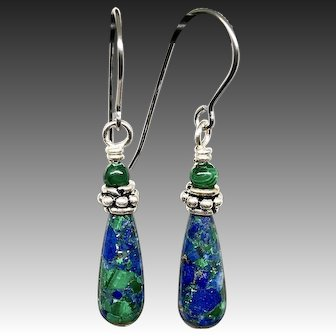 Azurite Malachite Earrings