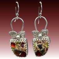 Copper Tourmaline Sterling Silver Earrings