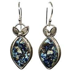 Blue Azurite Sterling Silver Earrings