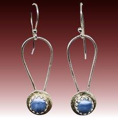 Owyhee blue opal Sterling Silver Earrings