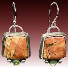 Cherry Creek Jasper Sterling Silver Earrings