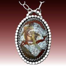 Jasper Sterling Silver Pendant Necklace
