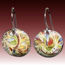 Colorful Abstract Enamel Earrings