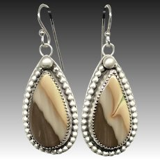 Royal Imperial Jasper Sterling Silver Earrings