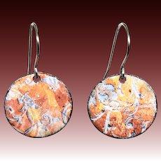 Colorful Rustic Enamel Earrings