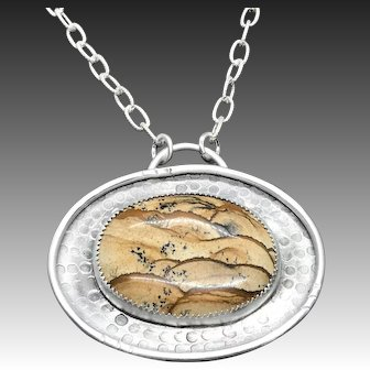 Picture Jasper Sterling Silver Necklace