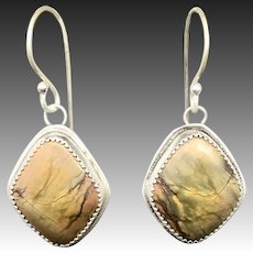 Cherry Creek Jasper Sterling Silver Earrings