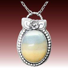 Osolite Jasper Sterling Silver Pendant Necklace